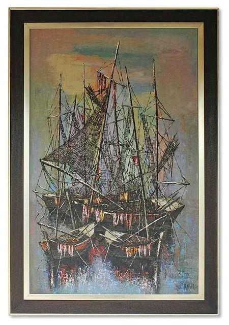 Yemen fishing harbor wall art eclectic picture frames new york by omero - Eclectic picture frame wall ...