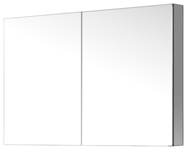 """Confiant 40"""" Mirrored Medicine Cabinet Recessed Or Surface"""