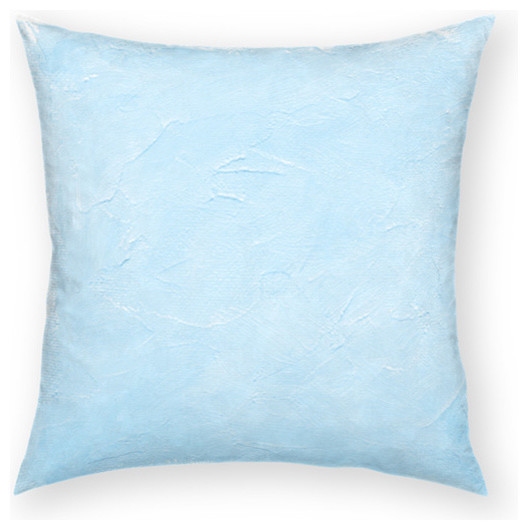 Solid Blue Throw Pillow : Solid Light Blue 18