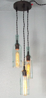 tier wine bottle pendant light chandelier