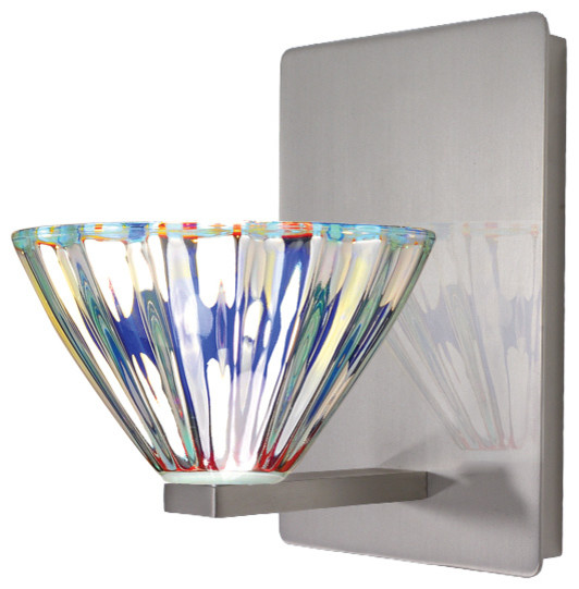 Contemporary Wall Sconces Glass : Eden Wall Sconce With Dichroic Glass - Contemporary - Wall Sconces - by WAC Lighting