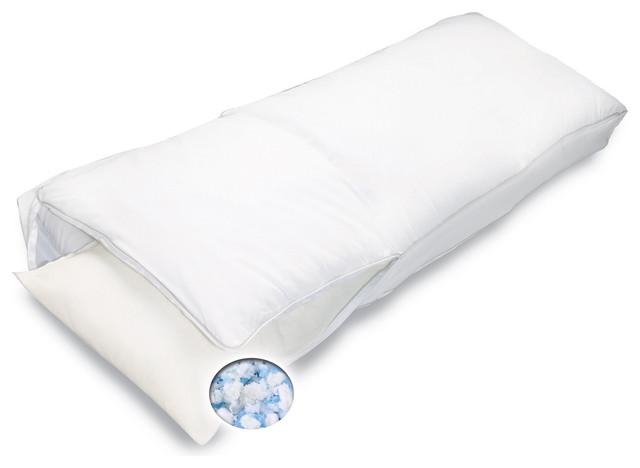 Bodipedic Gel Memory Foam Body Pillow - Contemporary - Decorative Pillows - by Overstock.com