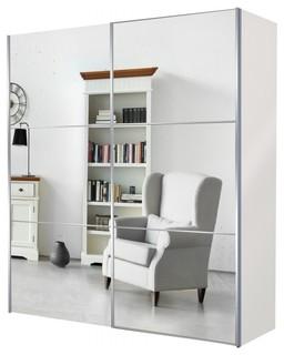 kleiderschrank tajo 200x216 spiegel bauhaus look. Black Bedroom Furniture Sets. Home Design Ideas