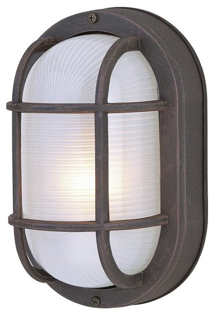 small oval cast ceiling mount outdoor light