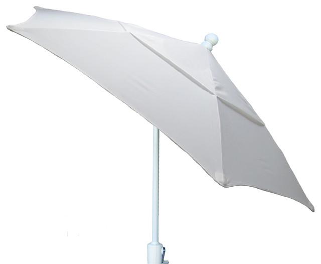 Terrace tilt umbrella natural 7 5 39 white pole for Terrace umbrellas