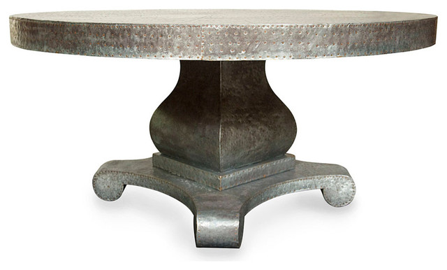 Bastille Table With Pedestal Eclectic Dining Tables