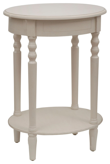 Simplify Oval Accent Table Antique White Contemporary Side Tables And End Tables By Jimco