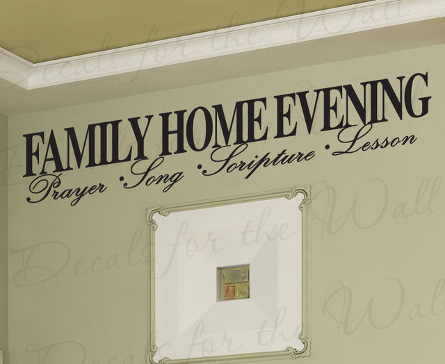 Wall Decal Sticker Quote Vinyl Large Family Home Evening