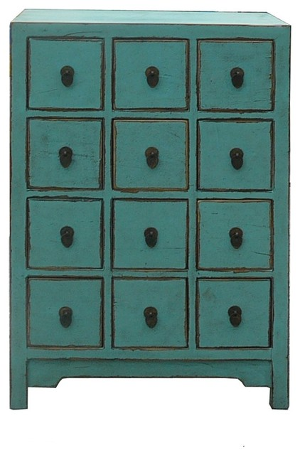 ... Blue 12 Drawers Storage Cabinet eclectic-accent-chests-and-cabinets