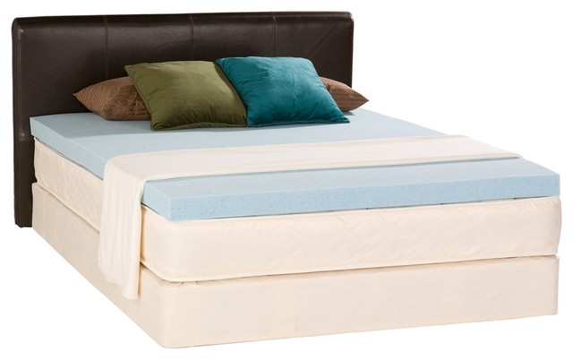 bliss cal king 3 inch gel memory foam mattress topper mattress toppers and pads portland. Black Bedroom Furniture Sets. Home Design Ideas
