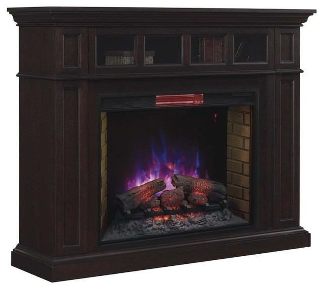 Chimney free estate wall mantel electric fireplace with - Contemporary electric fireplace insert accessories ...