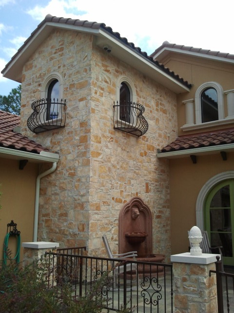 Italian Revival Courtyard Mediterranean Houston By