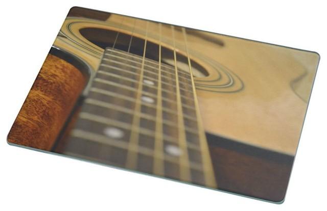 Acoustic Guitar Cutting Board Modern Cutting Boards By Rikki Knight LLC