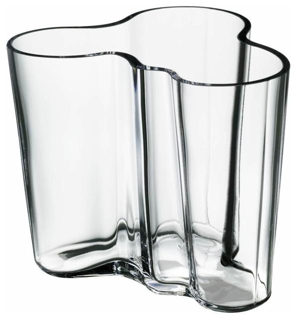 aalto vase clear modern vases los angeles by fitzsu. Black Bedroom Furniture Sets. Home Design Ideas