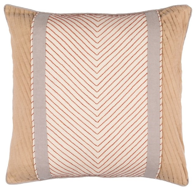 ... Leona Square Neutral Decorative Pillow contemporary-decorative-pillows
