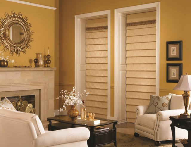 Bali Custom Tailored Roman Shades Traditional Living Room Other Metro