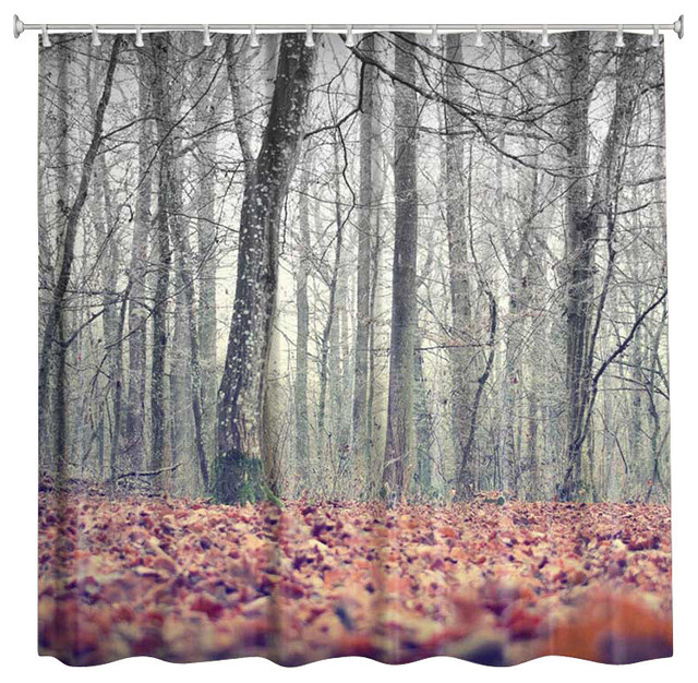 Autumn woods quot shower curtain contemporary shower curtains by