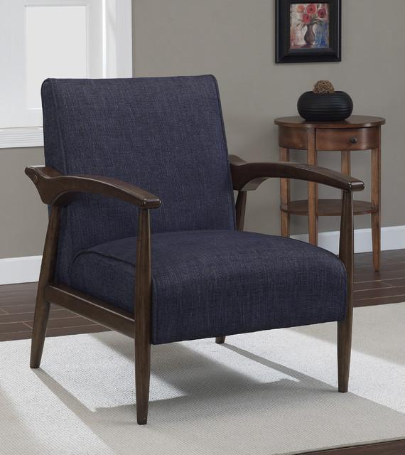 Gracie Retro Indigo Arm Chair Contemporary Armchairs