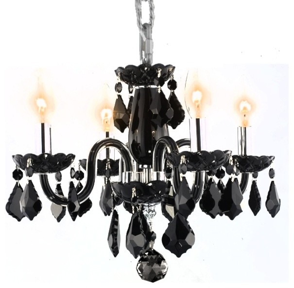 Mini black chandeliers with crystals black mini chandelier interior mini black chandeliers with crystals transitional glossy black mini chandelier aloadofball Image collections