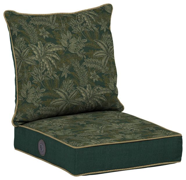 Adjustable Comfort Deep Seat Set, Palmetto Jungle Green - Traditional - Outdoor Cushions And ...