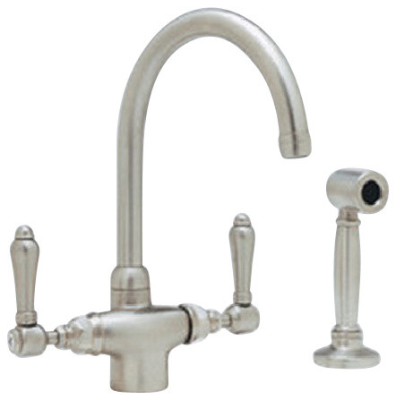 Rohl Country Kitchen Kitchen Faucet Side Spray Lever