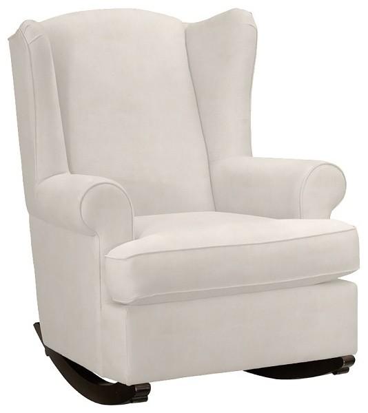 Wingback rocker contemporain fauteuil d 39 allaitement for Chaise bercante allaitement