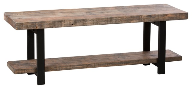 Pomona Bench Rustic Natural Rustic Indoor Benches