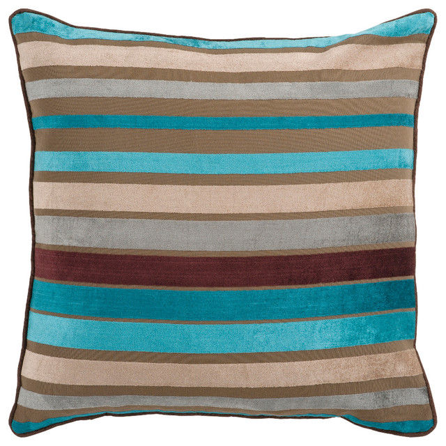 Throw Pillow Kit : Surya Pillow Kit Square Ocean Depths Accent Pillow - Contemporary - Decorative Pillows - by GwG ...