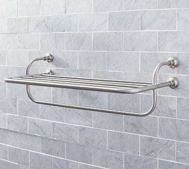 Hayden Train Rack Satin Nickel Finish Traditional Bathroom Accessories By Pottery Barn
