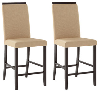 Bistro Dining Chairs Desert Sand Fabric Set Of 2 Contemporary Dining Ch