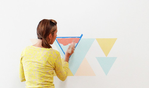 Eclectic Geometric Wall DIY