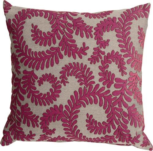 Pillow Decor - Brackendale Ferns Pink Throw Pillow - Contemporary - Scatter Cushions - by Pillow ...