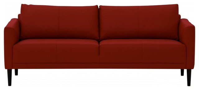 3 sitzer sofa renzo semianilinleder rot modern sofas. Black Bedroom Furniture Sets. Home Design Ideas