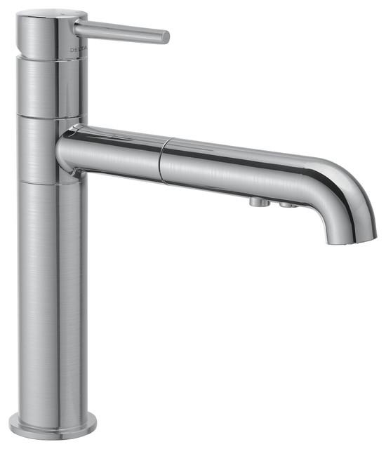 delta single handle pull out kitchen faucet 4159 ar dst. Black Bedroom Furniture Sets. Home Design Ideas