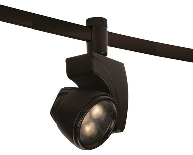 WAC Lighting LEDme Flexrail1 9W Warm White Spot Dark Bronze Modern Track