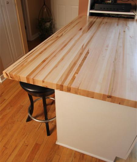 Maple Butcher Block Counter Tops Full Length Rails Edge - Butcher Block Walnut
