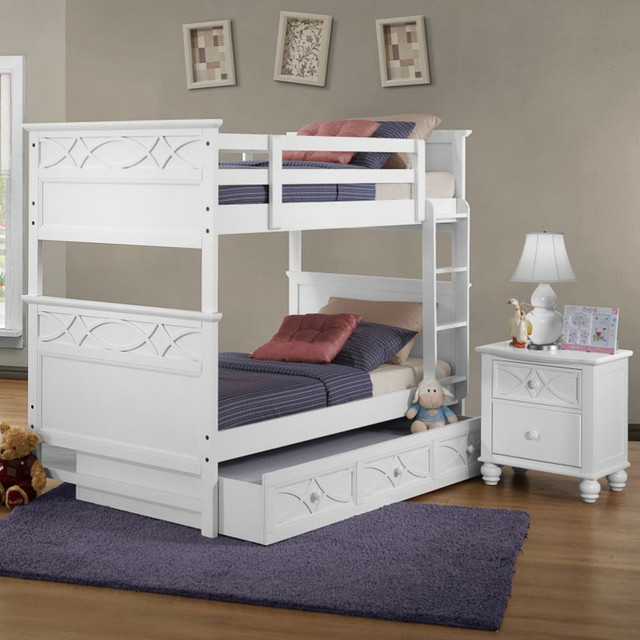 homelegance sanibel 2 piece bunk bed kids 39 bedroom set in