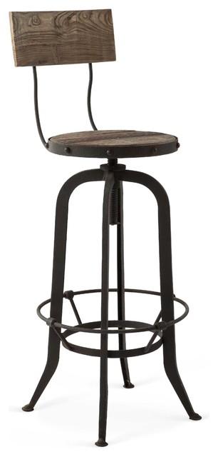 alvar industrial loft reclaimed oak iron vintage barstool industrial bar stools and counter. Black Bedroom Furniture Sets. Home Design Ideas