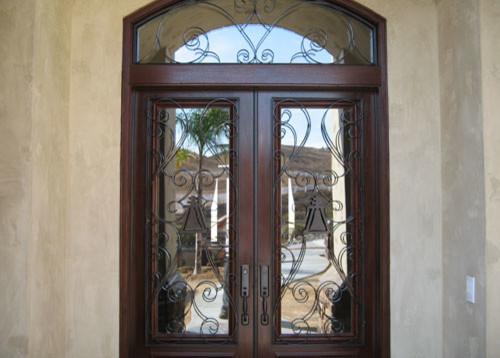 Anaheim home security door modern front doors orange for Home security doors