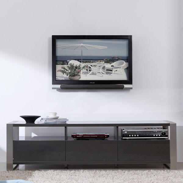 "B-Modern - Stylist 63"" High-Gloss Gray TV Stand - BM-110-GRY - Contemporary - Entertainment ..."