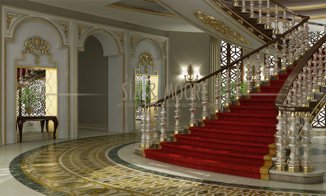 Doha mansion 1 qatar traditional entry other metro for Interior design qatar