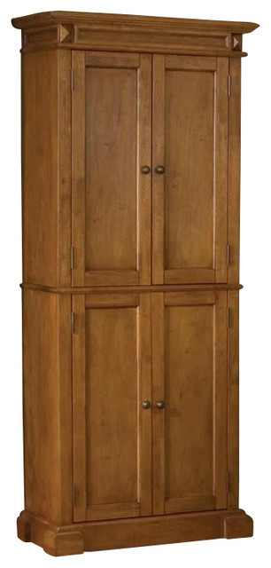 Home Styles Kitchen Pantry in Distressed Oak Finish