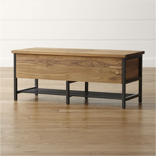 Teca Storage Trunk Bench Contemporary Dining Benches