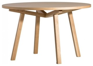 forte round timber dining table contemporary dining
