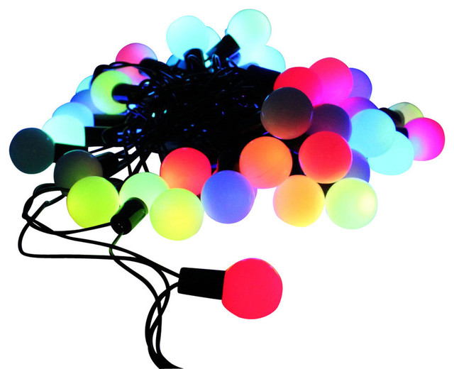 Outdoor String Lights That Change Colors : Globe Automatic Color-Changing LED Christmas Lights - Outdoor Rope And String Lights - by TORCHSTAR