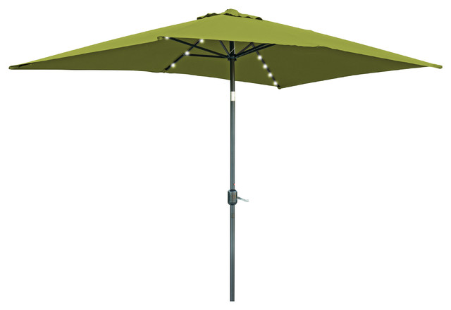 rectangular solar powered led lighted patio umbrella 10 39 x 6 5