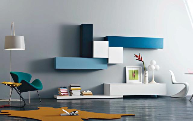 tv wand lampo l2 20 bauhaus look multimedia moebel und tv. Black Bedroom Furniture Sets. Home Design Ideas