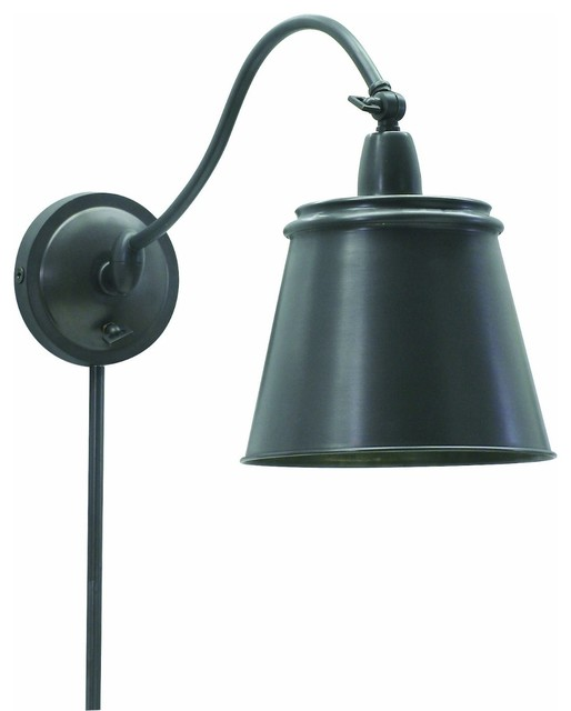 Hyde Park Swing Arm Wall Mount Reading Light with Metal ...