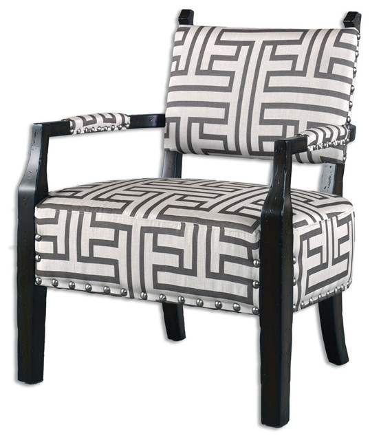 uttermost 23217 terica geometric accent chair