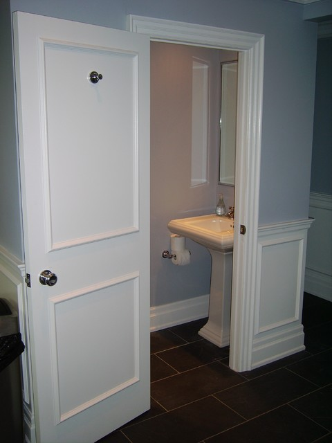 Tiny small bathroom traditional powder room toronto - Tiny powder room ideas ...